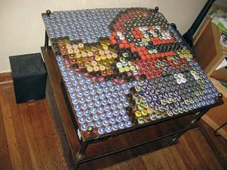 bottle cap furniture. explore bottle cap table art and more furniture o