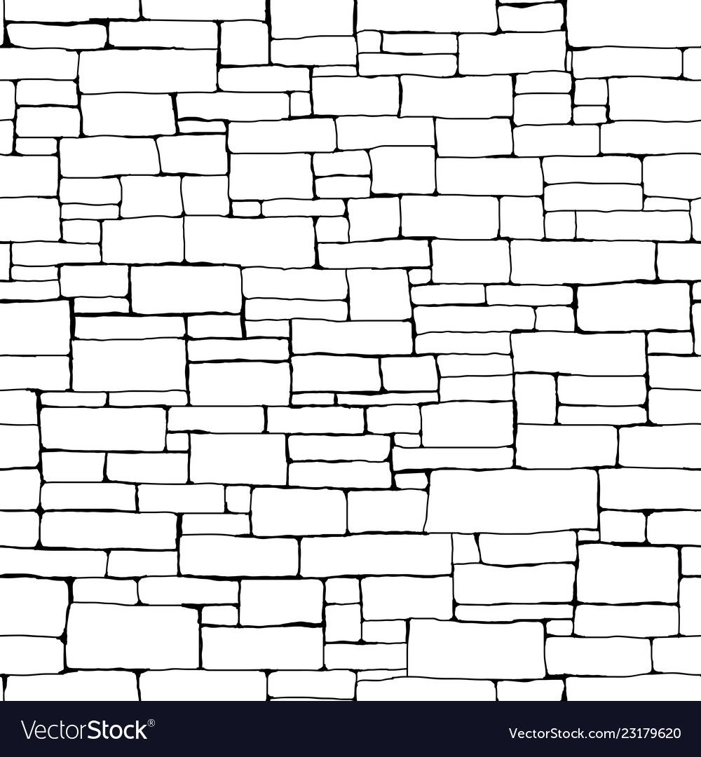 Seamless Brick Wall Background Drawn With Ink Vector Image Affiliate Wall Background Seamless Brick Ad In 2020 Drawings Background Drawing Castle Drawing