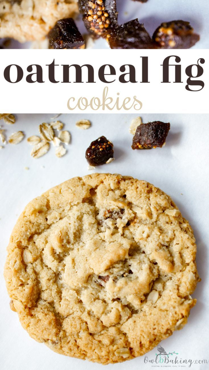 Oatmeal Fig Cookies #quickcookierecipes