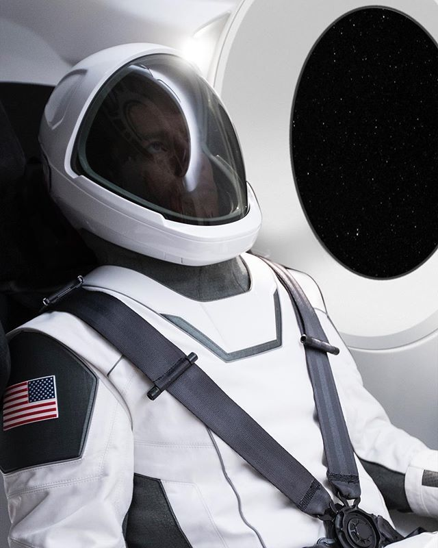 First picture of SpaceX spacesuit. More in days to follow ...