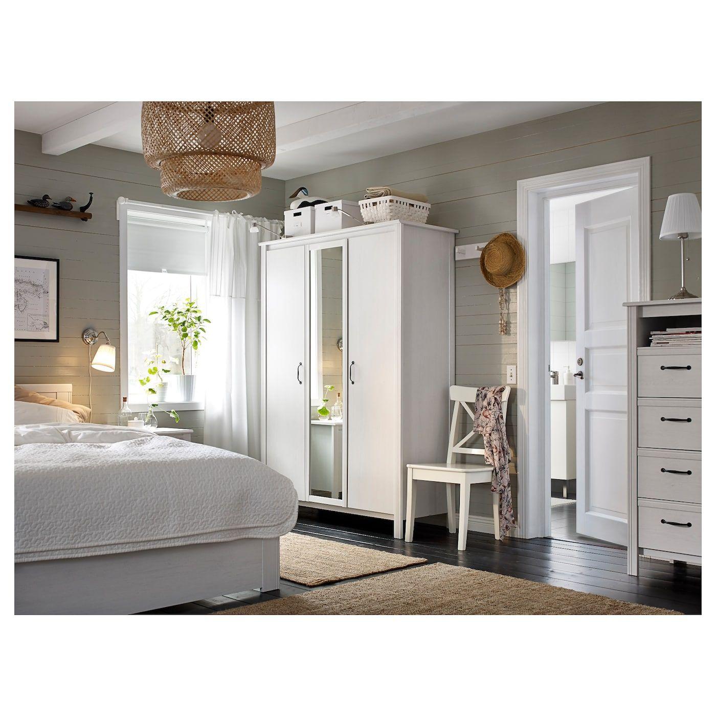 IKEA INGOLF Chair white White bedroom furniture
