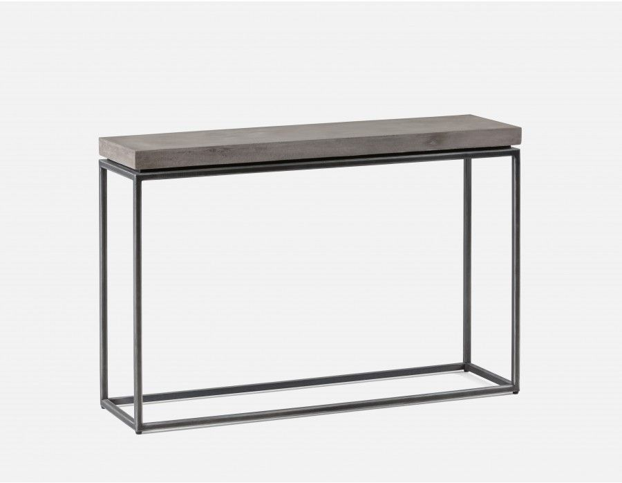 Console Table With Grey Concrete Top
