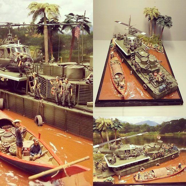 Nice 1/35 diorama. Unknown modeler #scalemodel #plastimodelismo #hobby #vietnam #plastickits #usinadoskits #udk #scalemodelkit