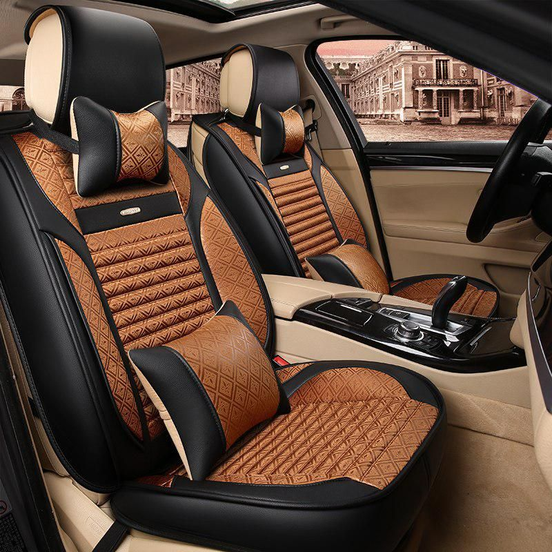 3D Mercerized cotton Leather Car Seat Cover Cushion For