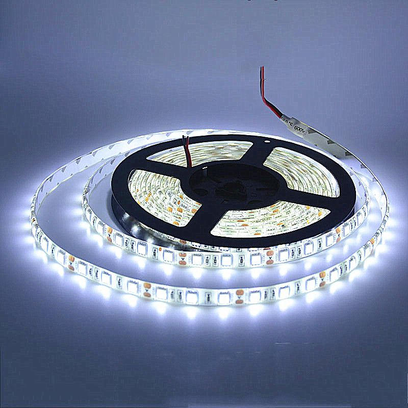 5m Led Strip 5050 Ip65 Waterproof 60led M Dc12v Flexible Led Light Strip Rgb Coolwhite Warm White Blue Free Sh Led Lights Led Light Strips Flexible Led Light