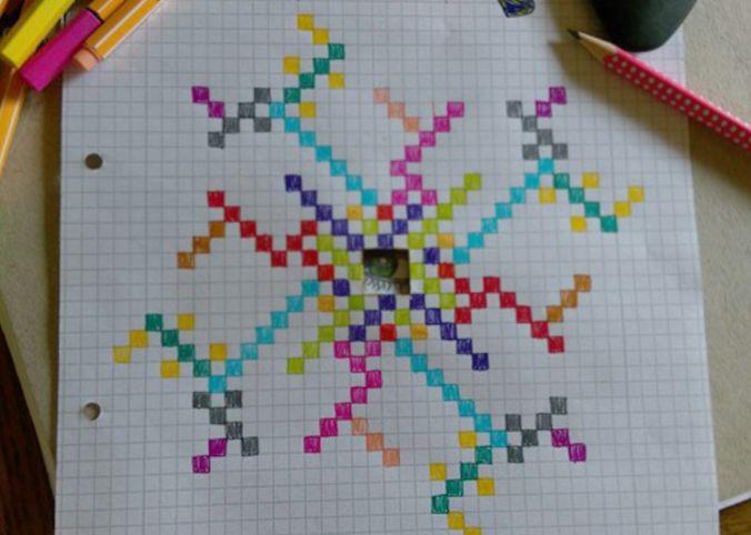 Cuadros dibujados a colores