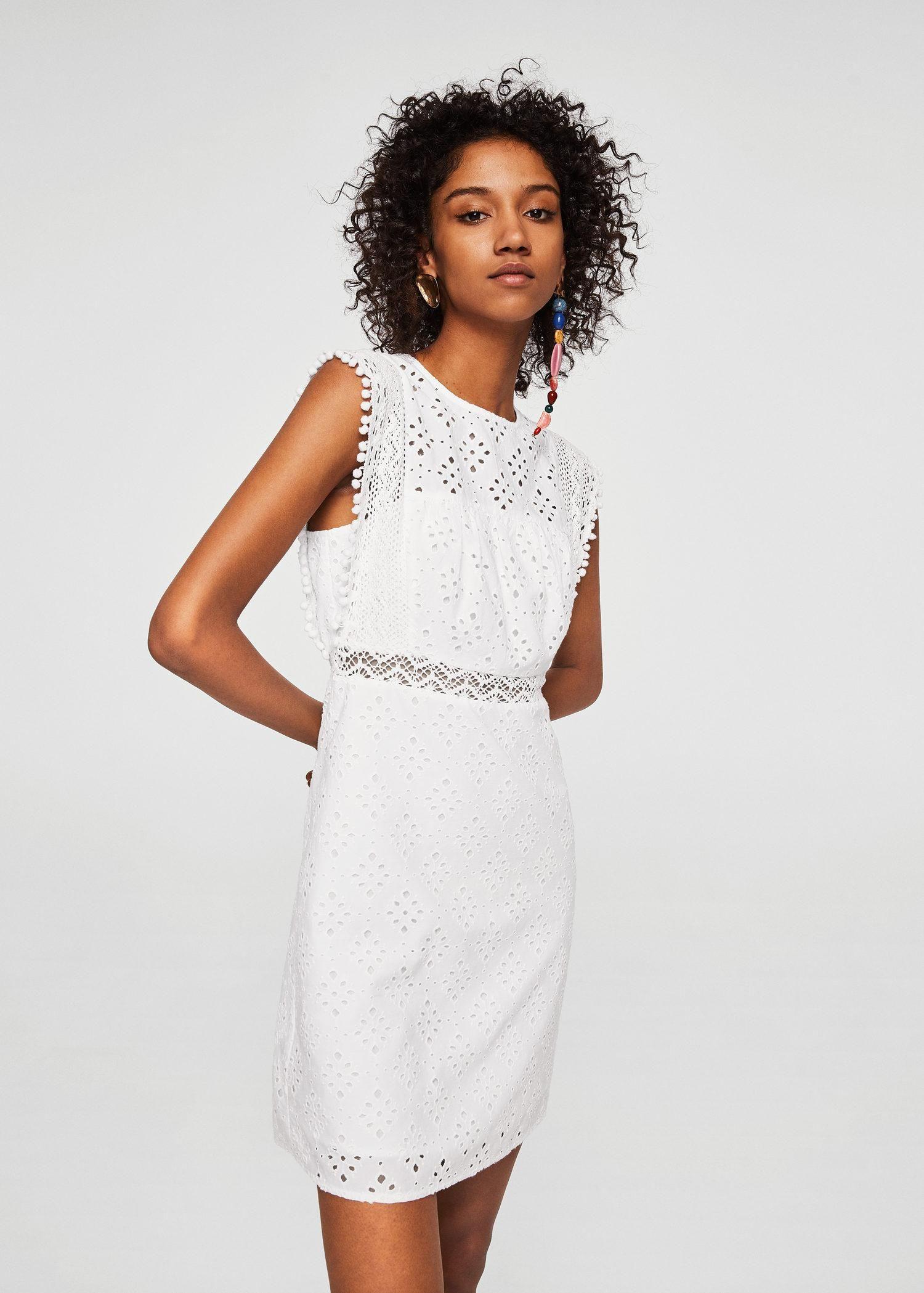 6c5e4439f40 Openwork Cotton Dress Off White