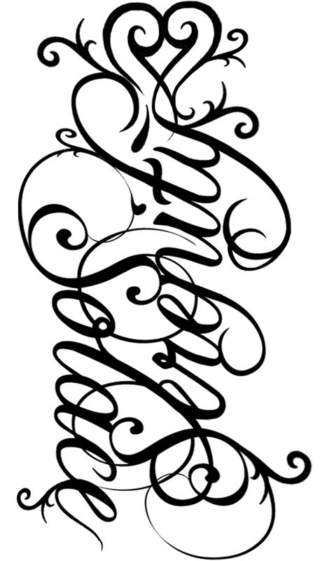 allie name tattoo designs