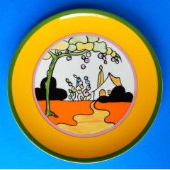 """Wedgwood Clarice Cliff """"Tulip"""" Limited Edition Plate - Bizarre Living Landscapes Collection"""