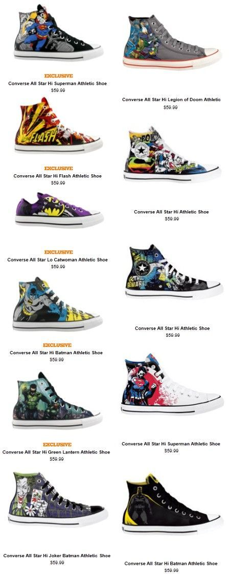 Exclusive Converse x DC Comics Kicks 417591322