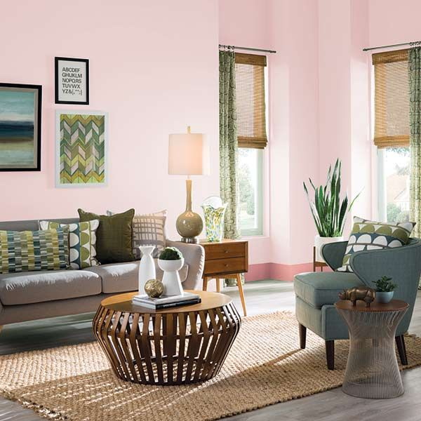 Pink Bedroom Ideas That Can Be Pretty And Peaceful Or: Whether In A Bedroom, Nursery Or Living Room, Any Wall In