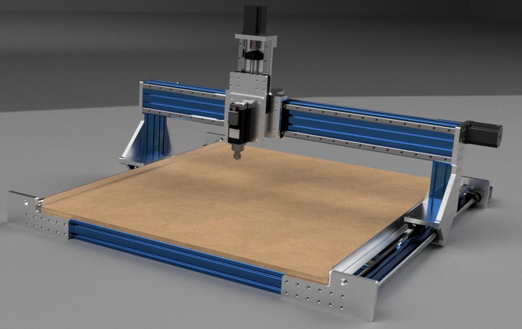 Aluminum extrusion CNC router design  Created using Fusion