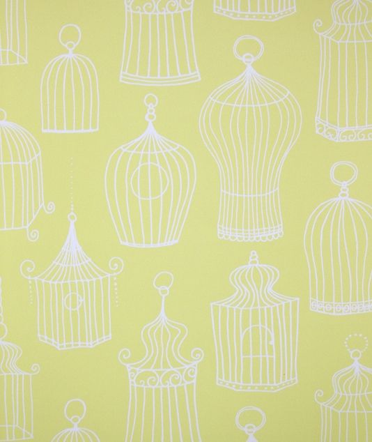 Celine Wallpaper A Bright Yellow Featuring White Vintage