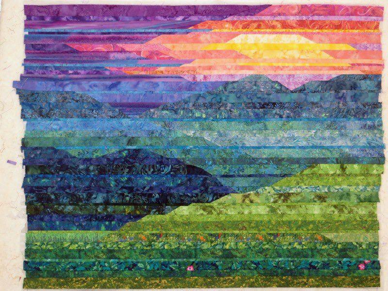 Cathy Geier's Quilty Art Blog: Making Blue Ridge Mountain Sunset ... : mountain quilts - Adamdwight.com
