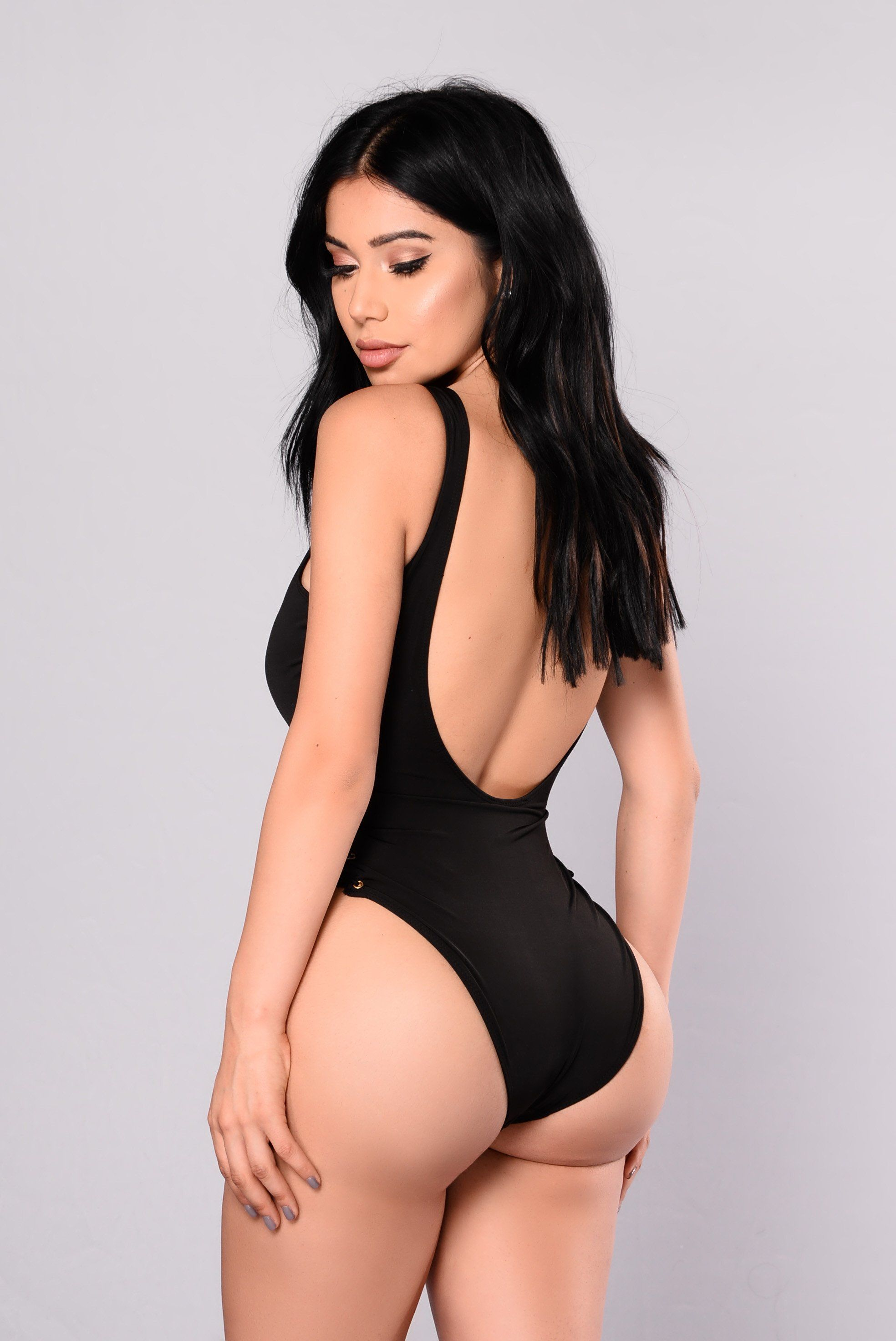 48750a87c69bf You re Knot Down Swimsuit - Black in 2019
