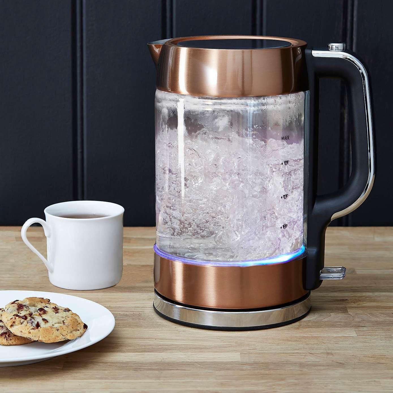 Copper 1.7L Glass Jug Kettle Dunelm Glass jug, Glass