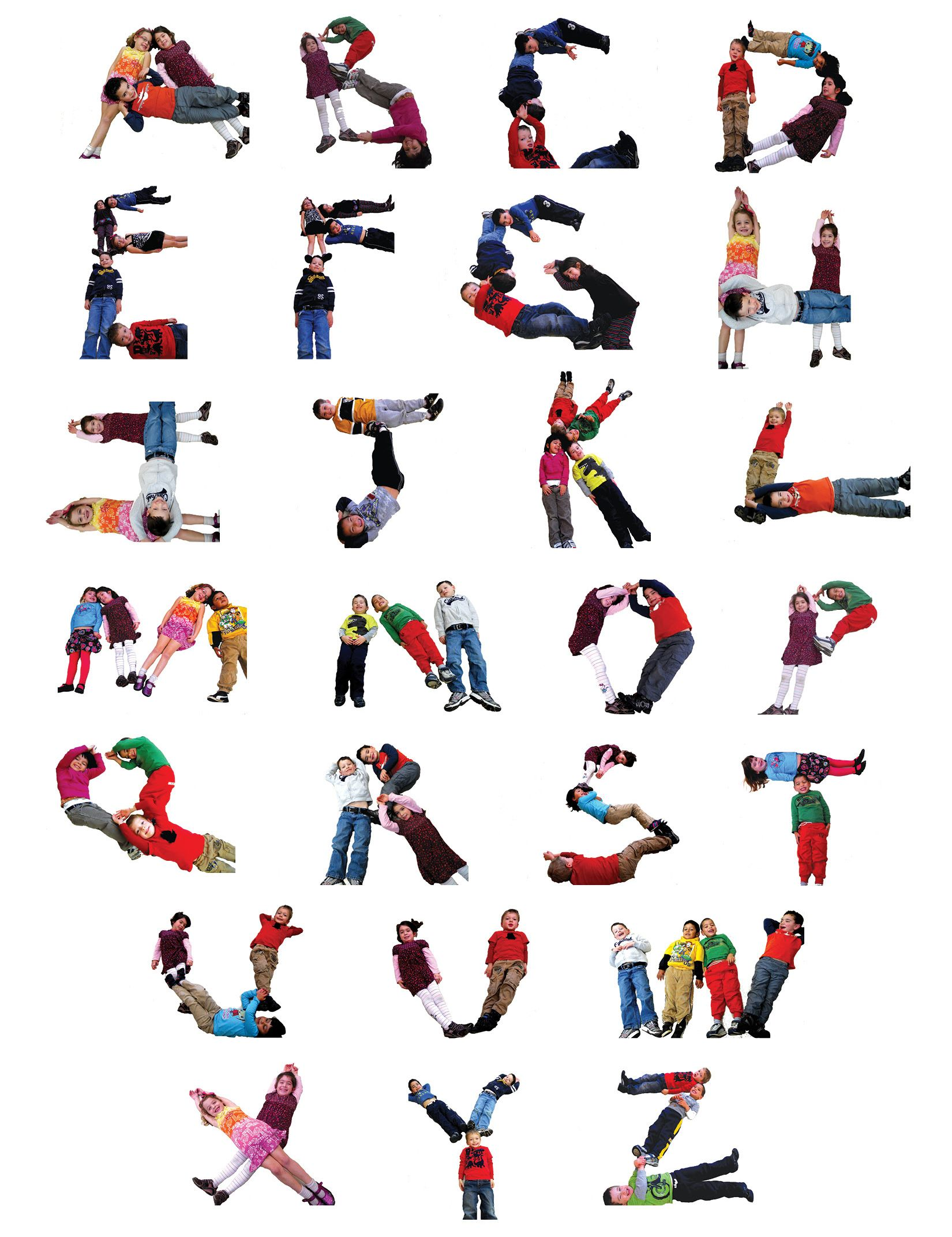 alphabet letters with your body : ... Centeru2019s Preschool ...