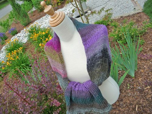 My Afternoon Wrap - Made on my Addi Express Knitting Machine. Only took a couple hours.
