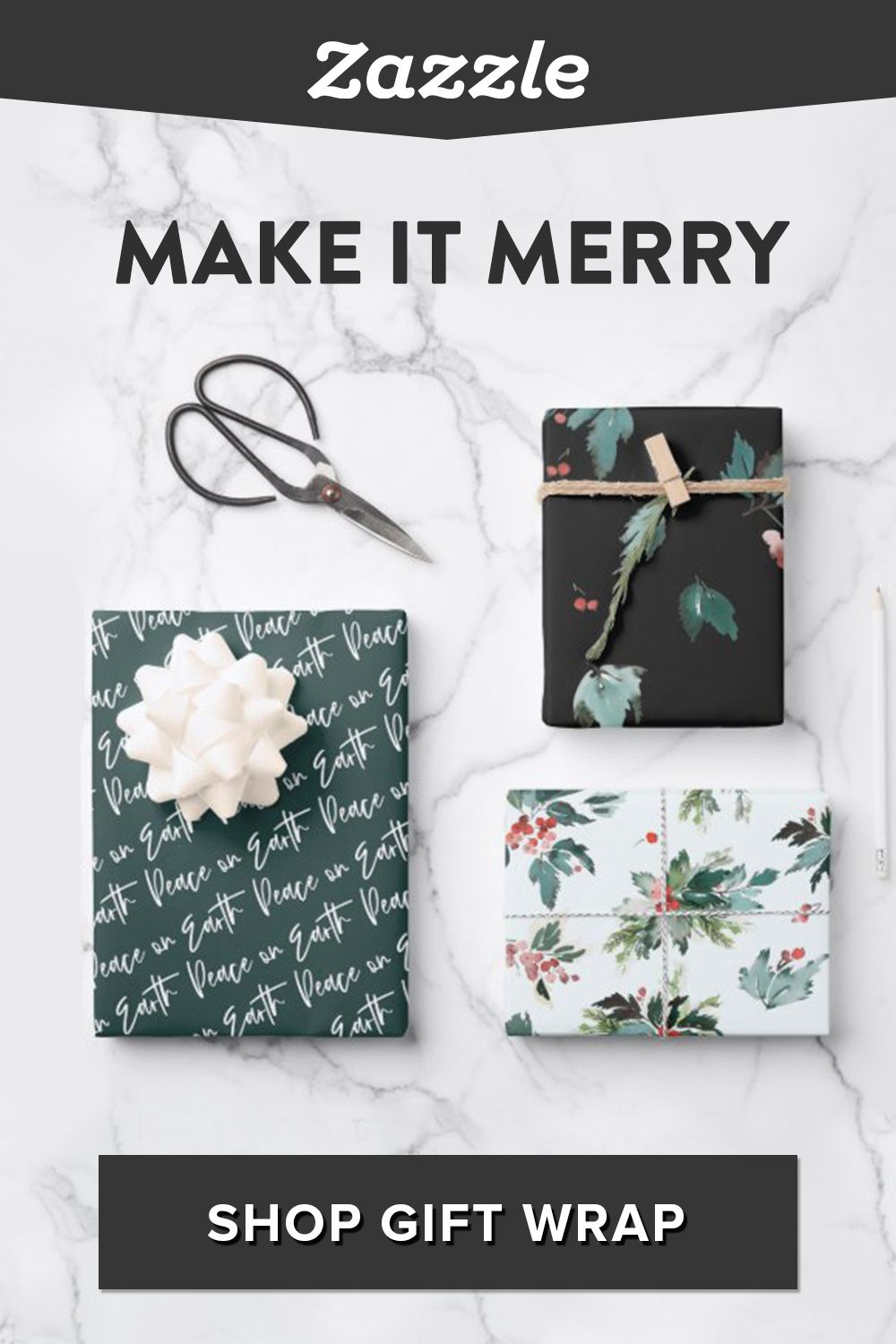 Shop gorgeous gift wrap to add a finishing touch to your holiday gifts. Browse modern, traditional, Disney, and designs for kids. Find all your holiday gifts and decor on Zazzle.