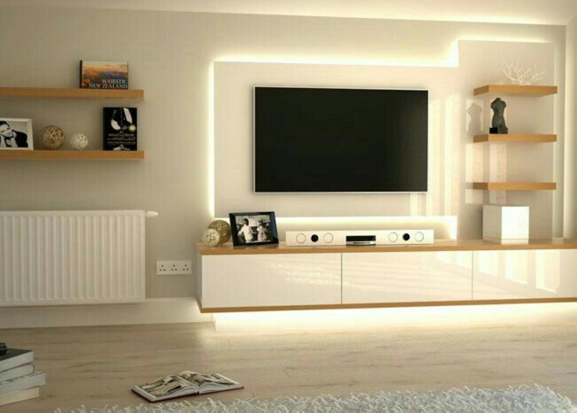 Stunning 52 Wall Tv Place Ideas By Using Pallets As Material For Making It Http Decoraiso Com Index Php 2018 Modern Tv Units Wall Unit Designs Tv Unit Decor