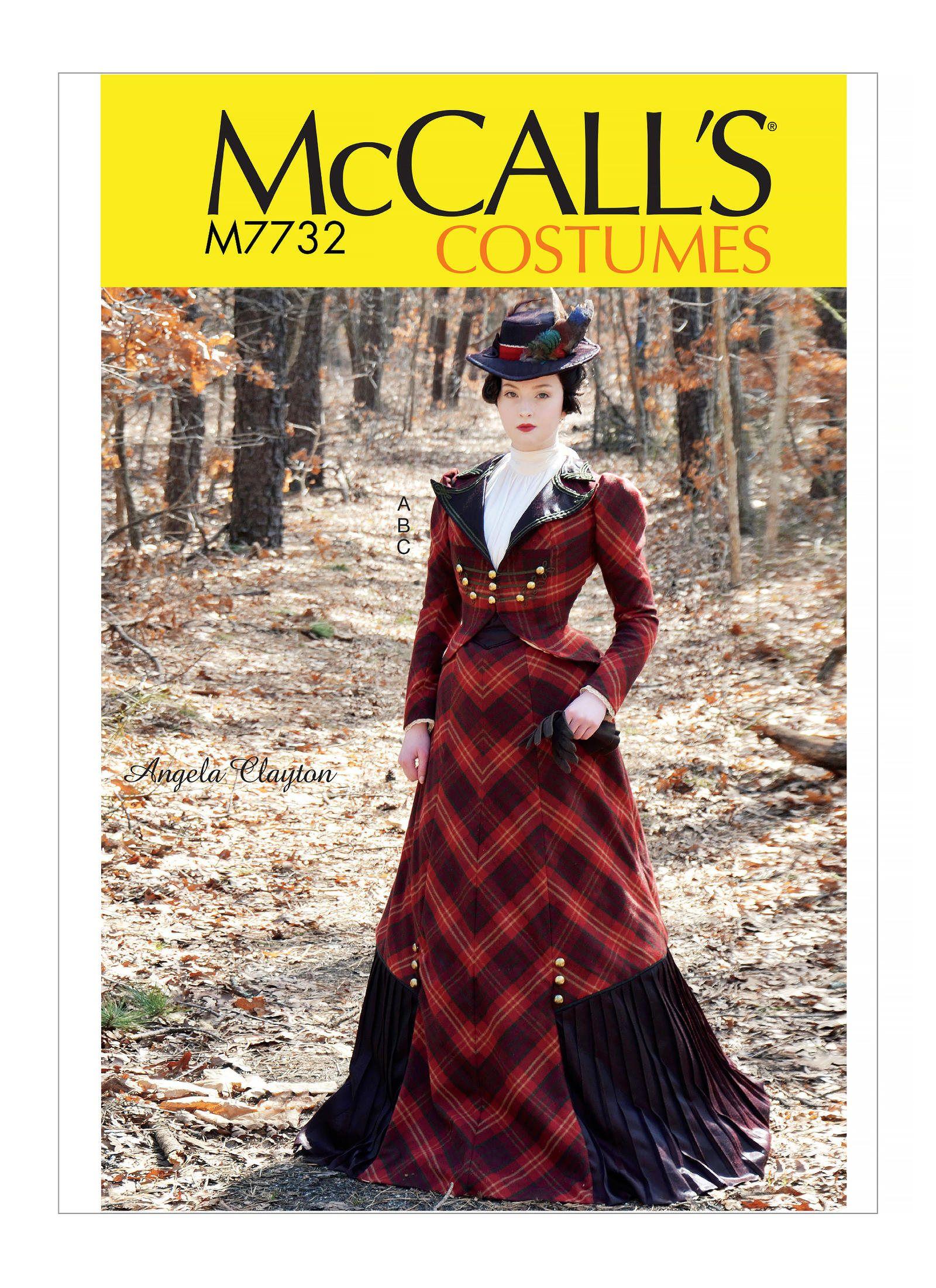 b764ccf02 McCall s sewing pattern 7732 Angela Clayton Victorian Era 1800s ...