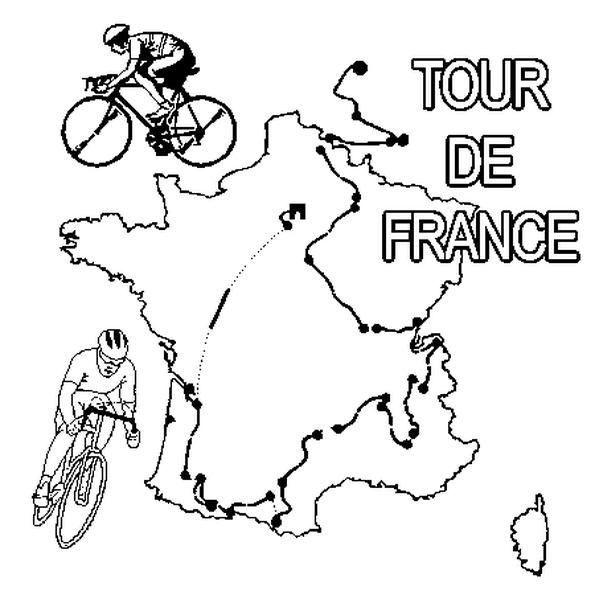Le dessin symbolise le tour de France, la plus grande