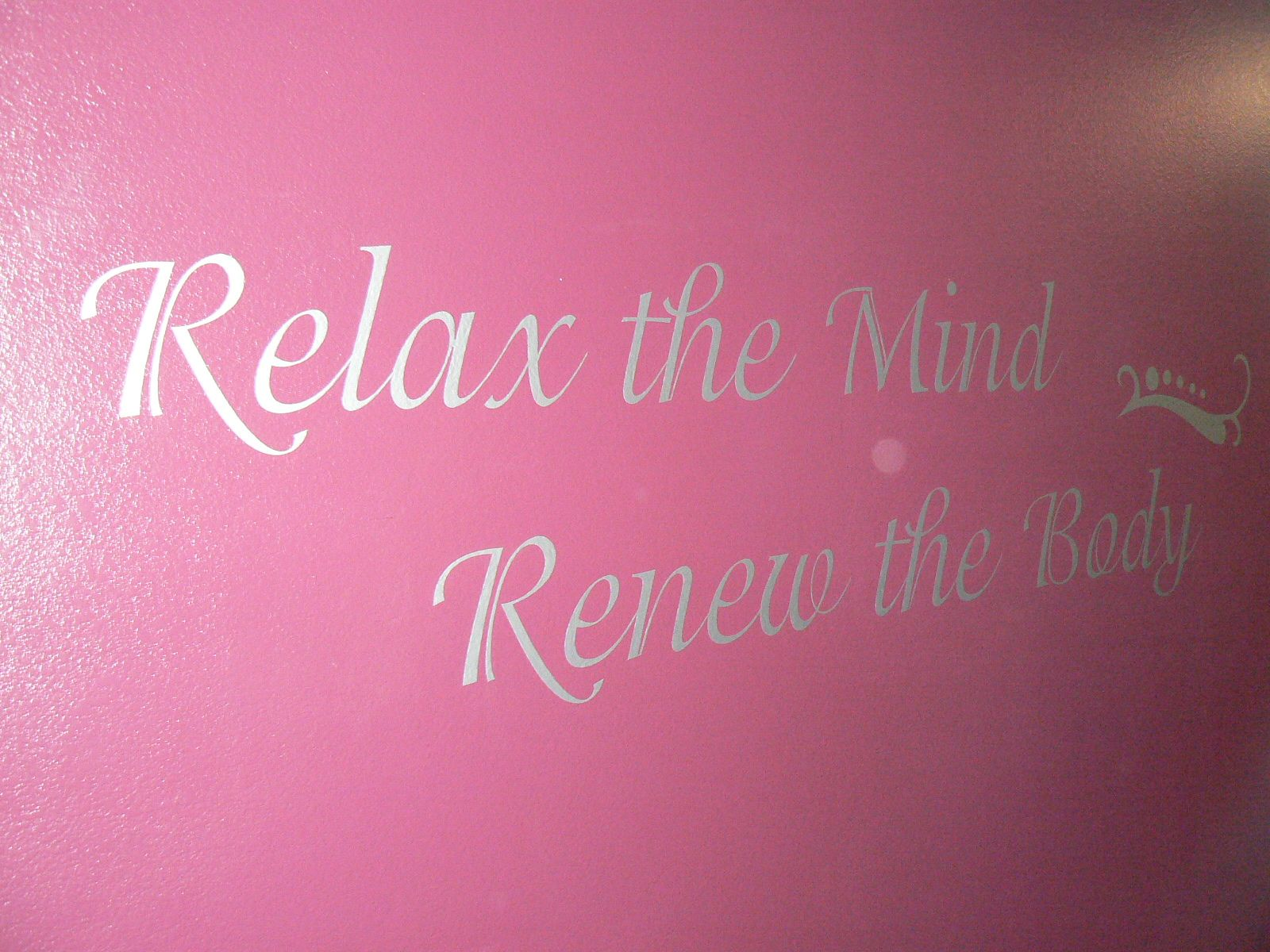 Wall decal for your treatment room