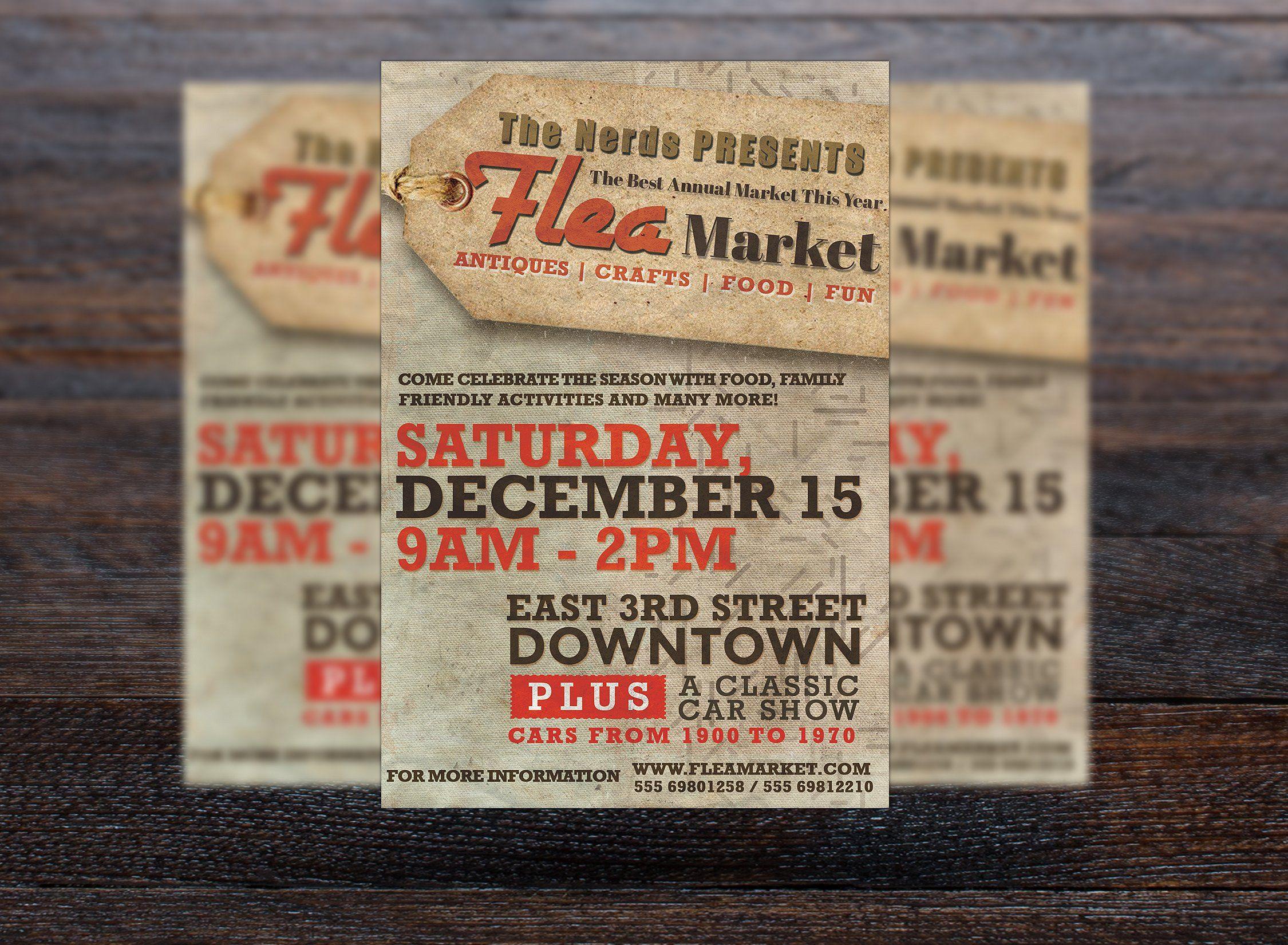 Flea Market Flyer Flyer Size Flyer Flyer Template Flea market flyer template free