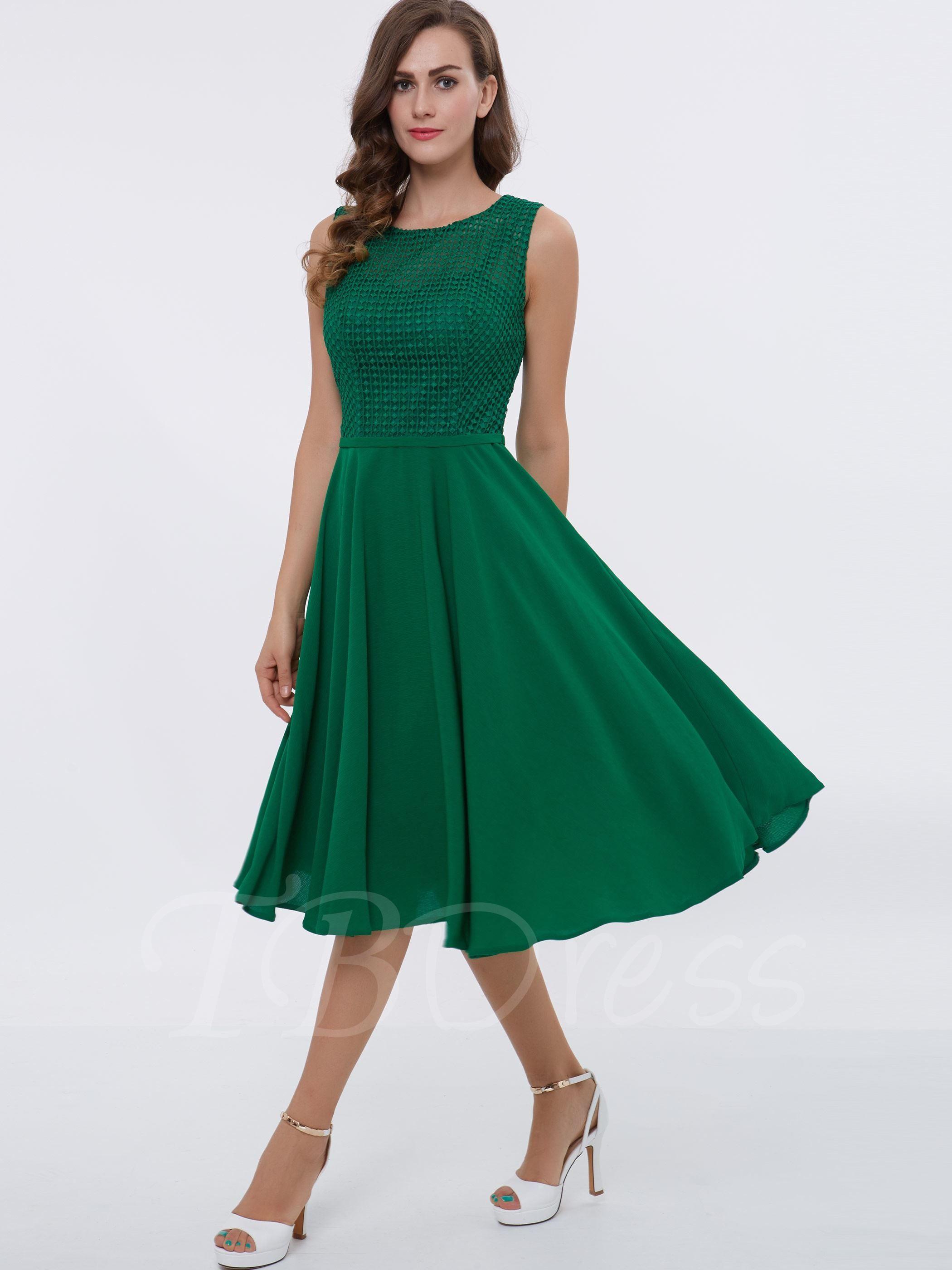 Straps ALine Lace TeaLength Cocktail Dress clothes Pinterest