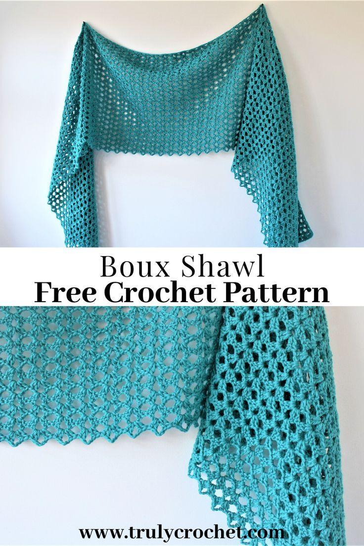 Boux Shawl - Free Crochet Pattern - Truly Crochet