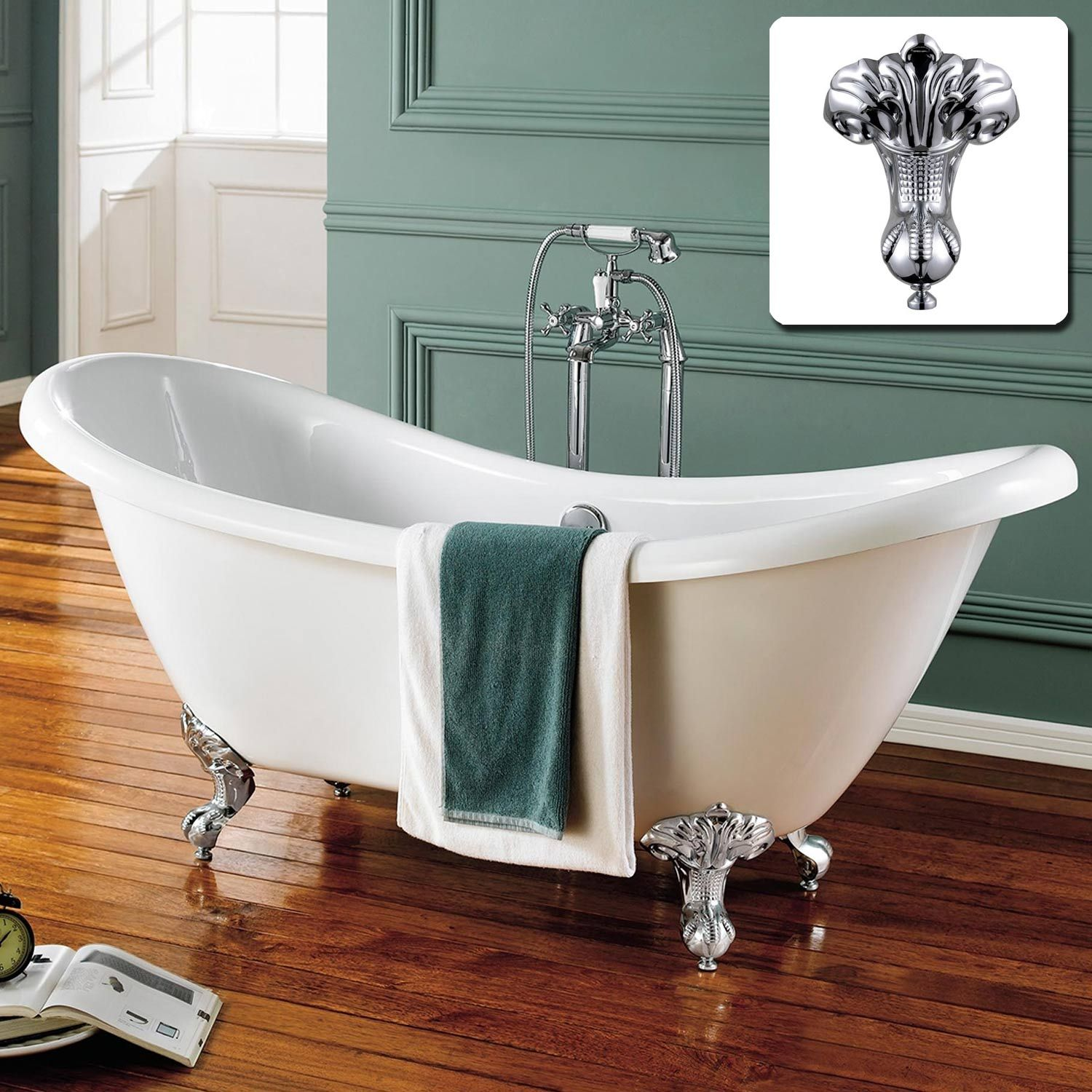 Double ended slipper bath. 740x1760mm, will fit where bath is now ...