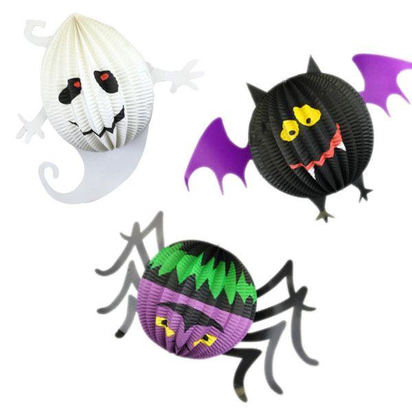 Halloween Accordion Hanging Decor Assortment 3pcs - Add some spooky