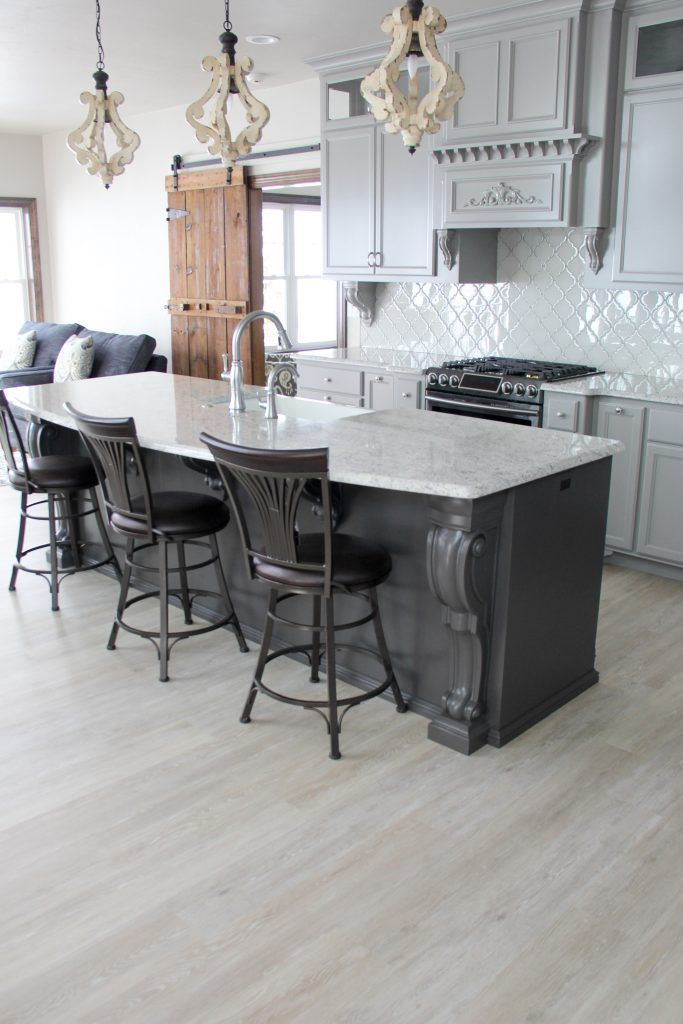 Flooring Coretec Plus Ivory Coast Oak 7 X48 Backsplash 21st Century Glass Tile Versailles Series Arabesque White Tulip