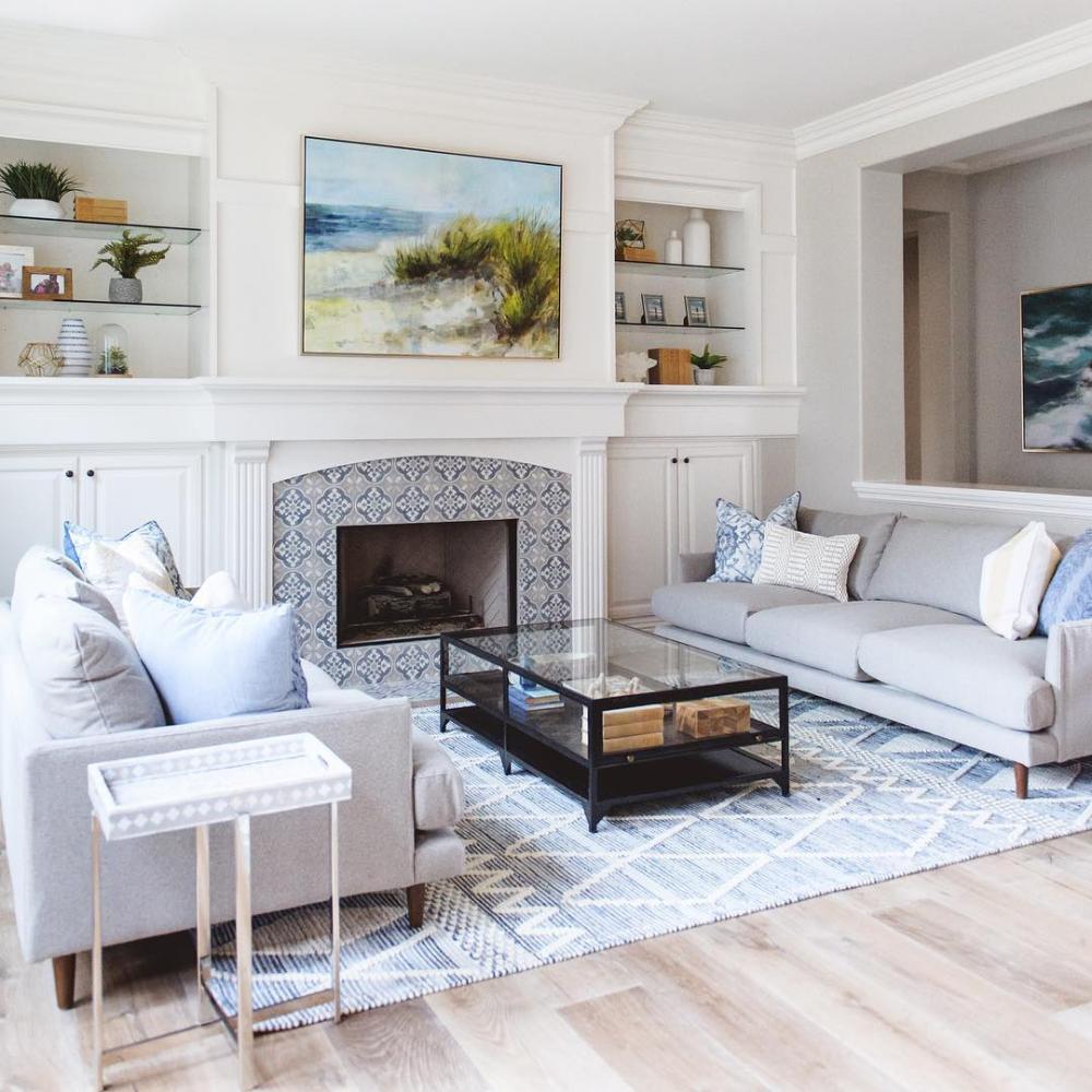 Ryder Denim Rug In 2021 Small Sitting Rooms Denim Rug Living Room Arrangements