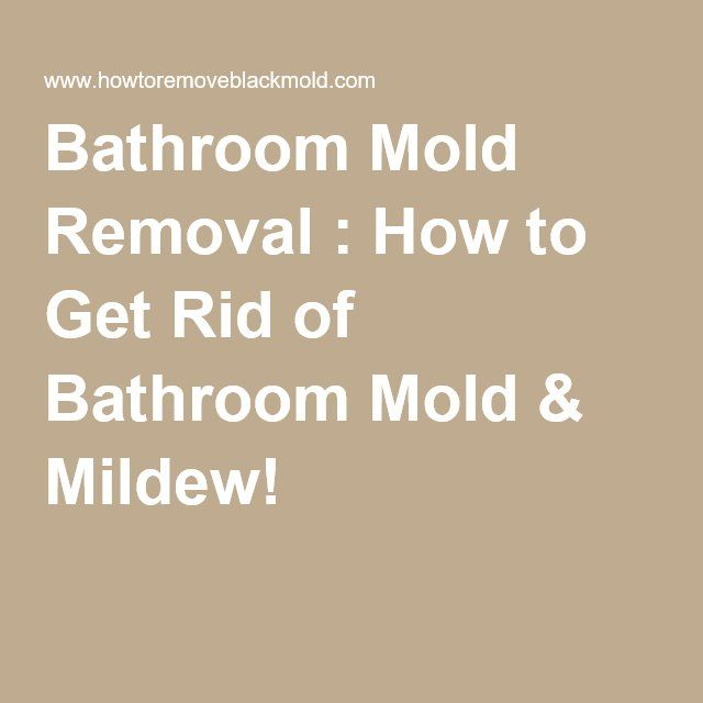 Removing Bathroom Mold Got You Doing Outdoors