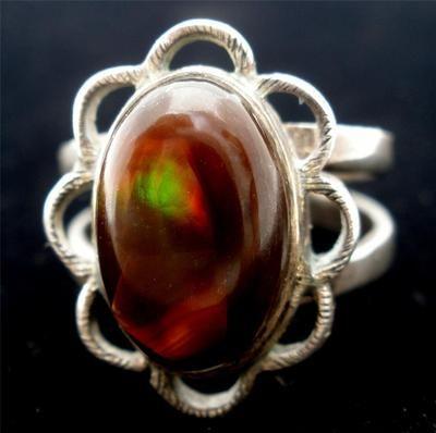 Handmade Sterling Silver Fire Agate Gemstone Size 7 Ring Vintage Southwestern | eBay
