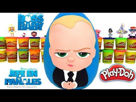 Huevo Sorpresa Gigante de Un Jefe en Pañales The Boss Baby de Plastilina Play Doh en Español - YouTube