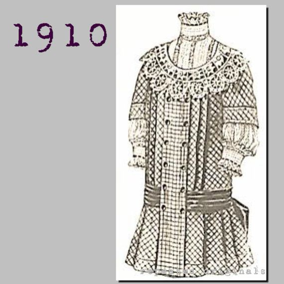 Dress for a girl 5 to 7 years - Edwardian Reproduction PDF Pattern ...
