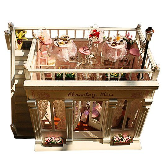 DIY Craft Handmade Kit Cute Bedroom Furniture Dollhouse Miniature Wooden Models