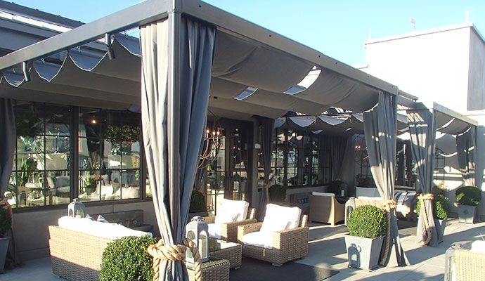 Restoration Hardware Atlanta, GA Custom Pergola Cover Designed By Patio  Lane. Http:/