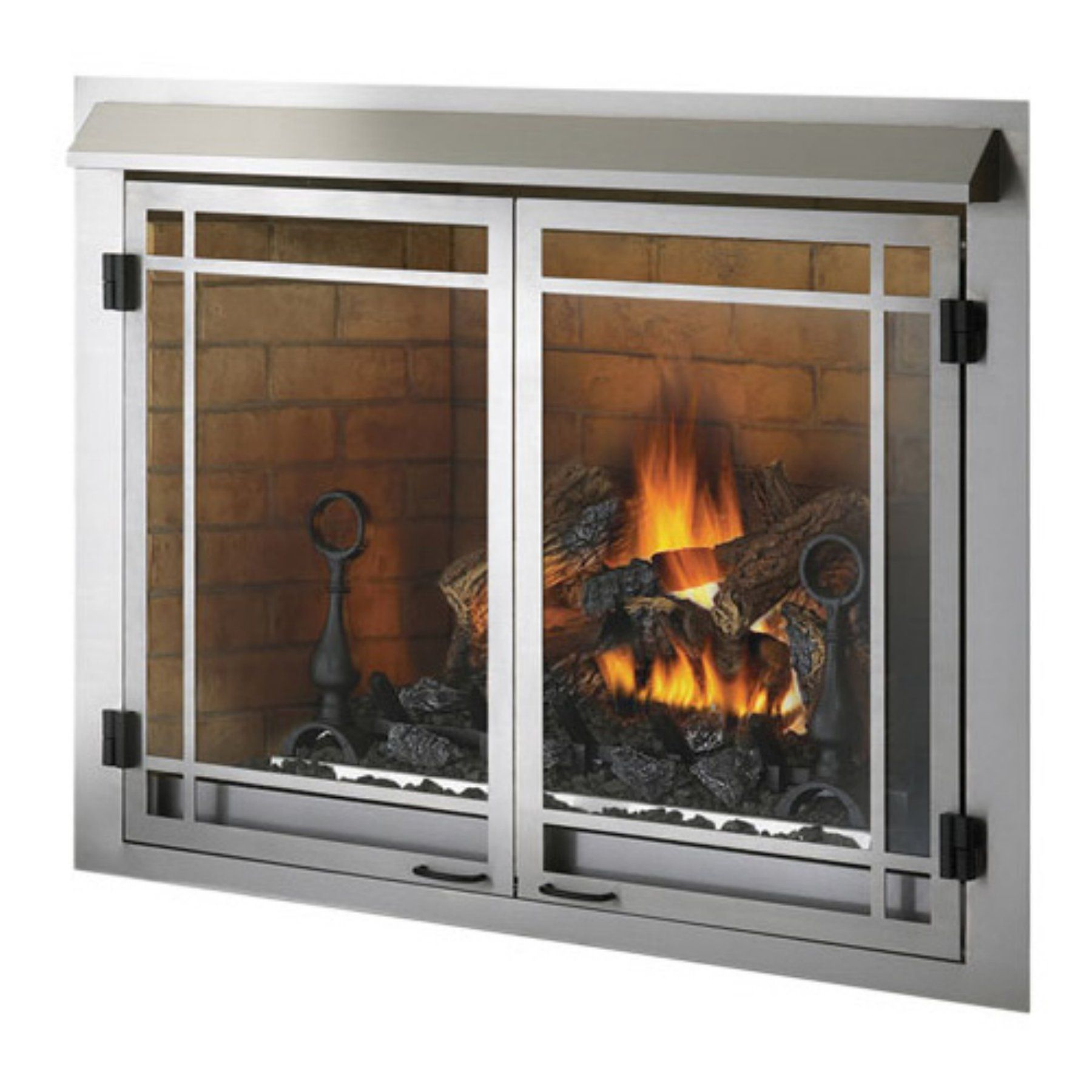 napoleon 42 in outdoor gas fireplace insert ned089 outdoor gas