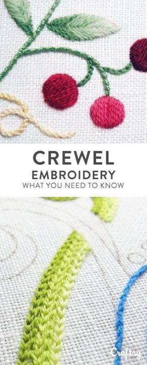 Crewel Embroidery Cushion Kits Crewel Embroidery Thread Michaels