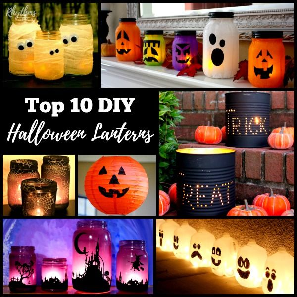 Gorgeous Glowing DIY Halloween Lanterns Halloween lanterns - halloween milk jug decorations