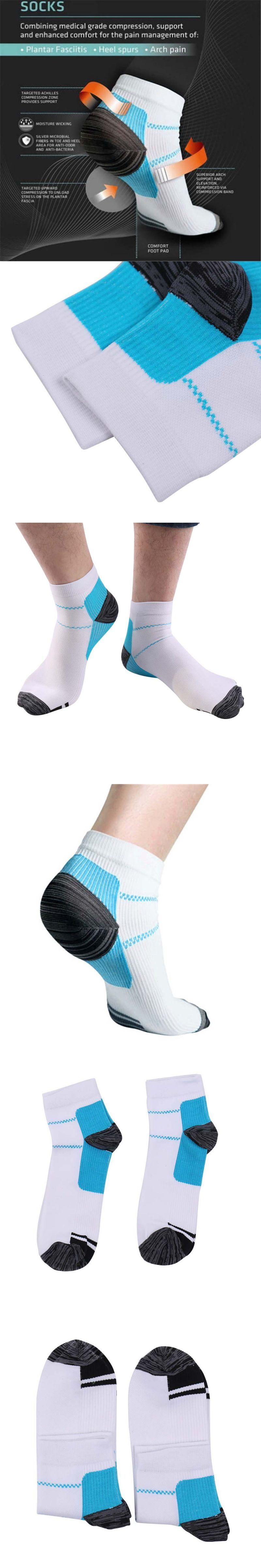 pair New Miracle Foot Compression Sock AntiFatigue Plantar