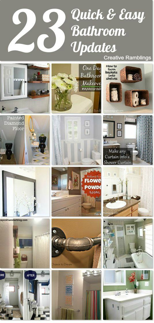 23 Quick and Easy bathroom updates that will make an impact 23 quick   easy bathroom updates Idea Box by Sarah Vanderkooy  . Easy Bathroom Updates. Home Design Ideas