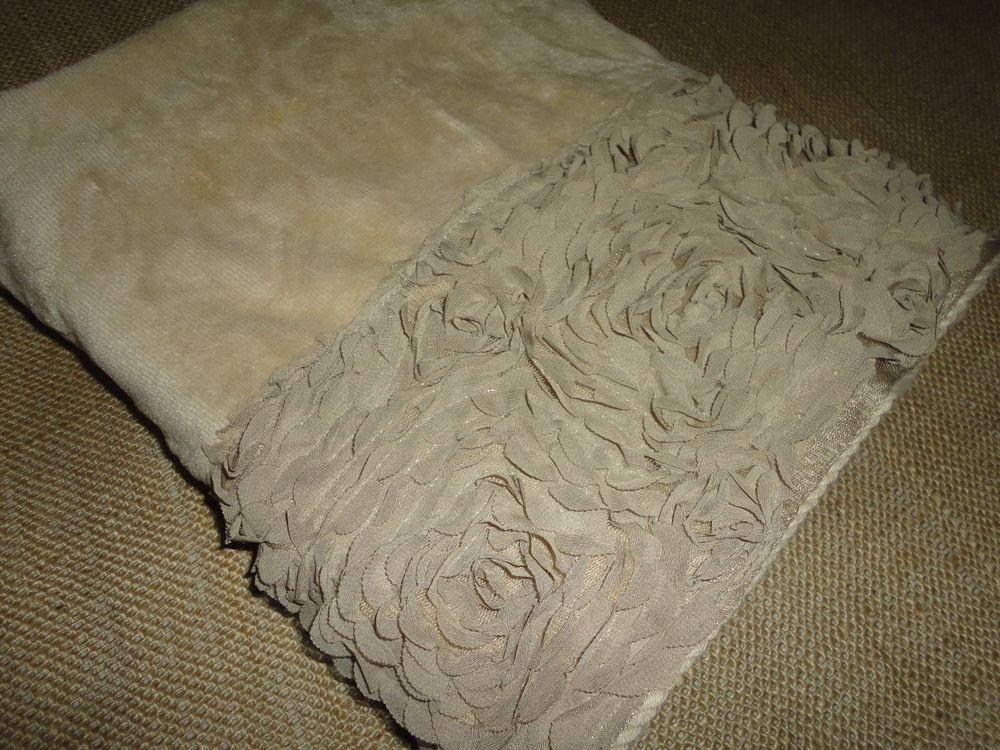 Croscill Rosette Style Floral Sand Velour 1 Bath Towel 27 X 48 Croscill With Images Croscill Bath Towels Fingertip Towels