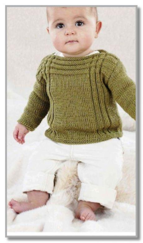 Photo of Пуловер с вырезом лодочка, и рельефными пол….