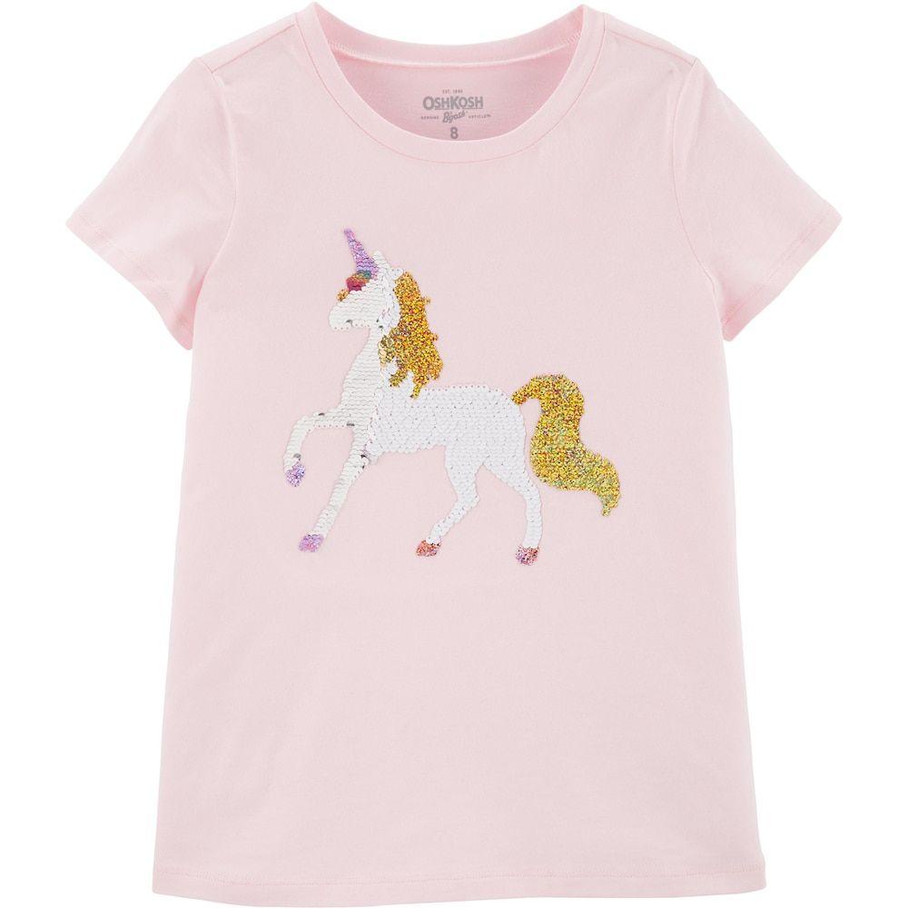OshKosh BGosh Baby Girls Sequin Short Sleeve T-Shirt