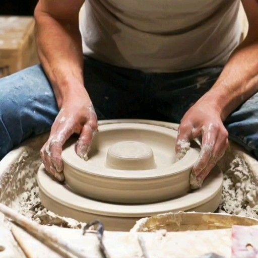 Wheel Thrown Chip Dip Bowl