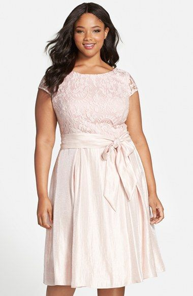 19cff01b8bd Adrianna Papell Embroidered Bodice Cap Sleeve Fit   Flare Party Dress (Plus  Size) available at  Nordstrom
